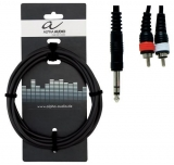 ALPHA AUDIO - Y kabel 1,5m 2XCINCH/M/ - 1X 6,3/M/