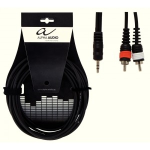 ALPHA AUDIO -  Y kabel 1,5m - 1X 3,5(M)stereo - 2X CINCH